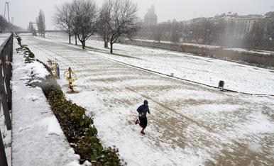 Segon dia de nevada a Lleida