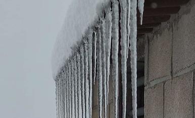 Foto desde la Granadella.Gelada dilluns 11