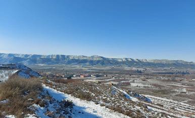 La Granja d'Escarp encara amb restes de la nevada Filomena