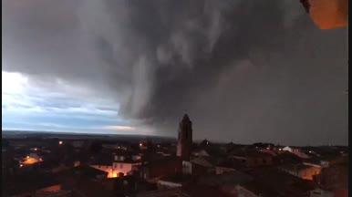 L'arribada de la tempesta a Algerri