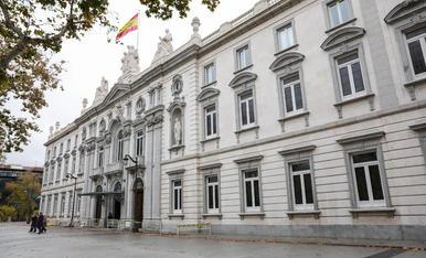 Imatge de la seu a Madrid del Tribunal Suprem.