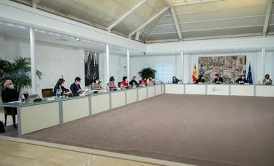 L'últim Consell de Ministres de Salvador Illa com a titular de Sanitat al Palau de la Moncloa.