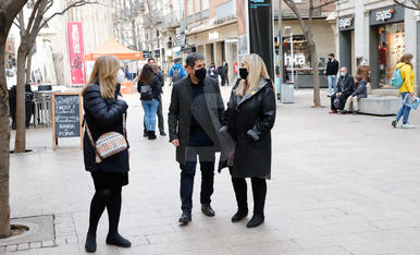 Visita de Jordi Sánchez a Lleida
