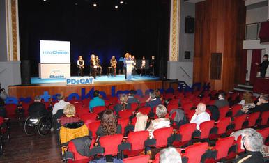Acte de campanya del PDeCAT a Mollerussa, amb Àngels Chacón