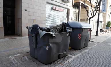 Desperfectes a Lleida després dels aldarulls de la manifestació contra la detenció de Pablo Hasel