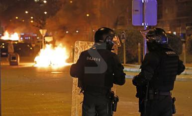 Segon dia d'aldarulls després de la manifestació per Hasel a Lleida