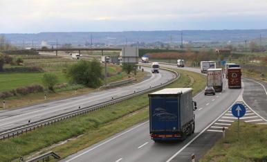Imatge de l'autovia A-2 al seu pas per Lleida.