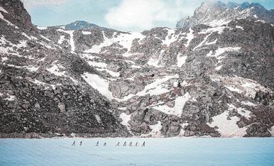 © Travessia d'esquiadors a la Vall Fosca
