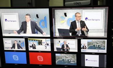 Imatges del webinar 'El Port de Tarragona, estratègic per a l'economia de Lleida'