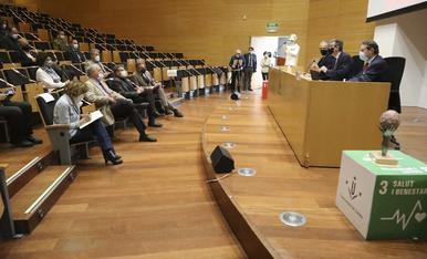Alumni UdL entrega el premi Alfons de Borja al Col·legi Oficial d'Infermeres i al Col·legi Oficial de Metges de Lleida