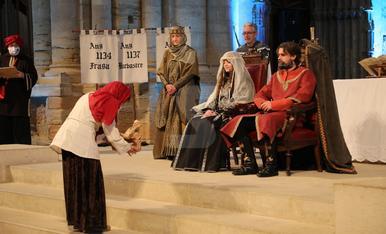 Recreación histórica de la boda real entre el conde de Barcelona Ramon Berenguer IV y Peronella de Aragón