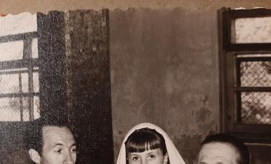 Amb el meu pare i la meva iaia el dia de la meva comunio