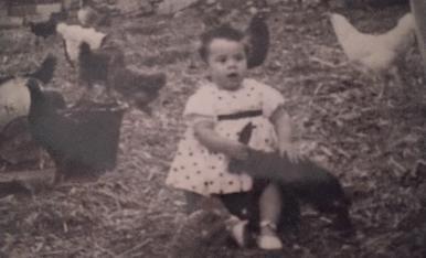Jo al poble del avis Santa Maria de Meià l'any 1959