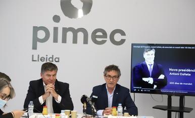 Antoni Cañete y Xavier Caufapé en un momento de la rueda de prensa.
