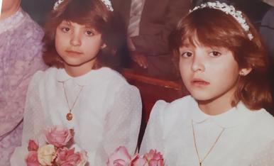 Primera Comunio se la meva germana bessona i jo