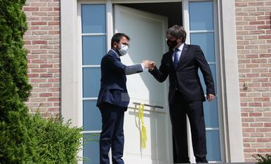 © Puigdemont y Aragonès, la foto de la nueva etapa