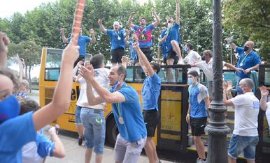 El Lleida Llista passeja per la ciutat el seu tercer títol europeu