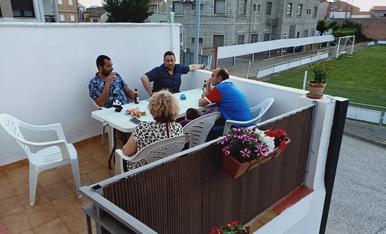 Que mejor terraza...que la terraza de tu casa...y si la foto es improvisada...aún mejor.