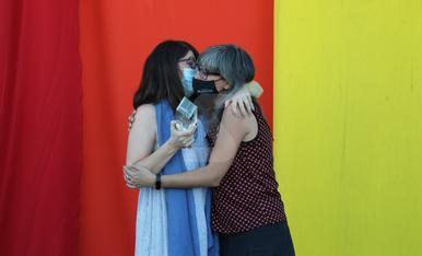 Acto del Día del Colectivo LGTBIQ+ en Lleida