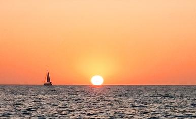 Simplement impressionant, posta de sol desde Eivissa