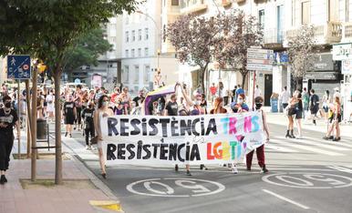 Manifestació del col·lectiu LGTBI+ a Lleida