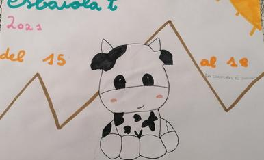 La vaca està disfrutant del esbaiola't
