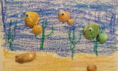 Peixets refrescants.., dibuix de Alexandre de 5 anys..