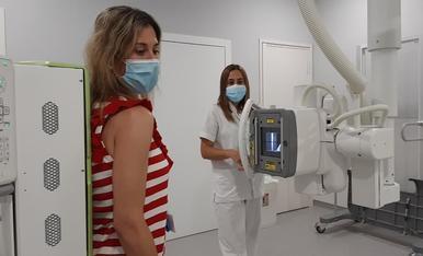 Imatge d'una prova de radiologia al centre d'atenció primària de Tàrrega.
