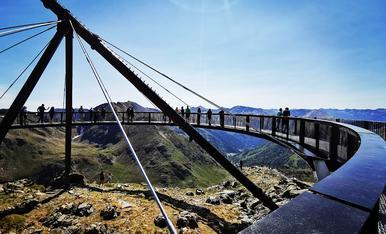 Mirador solar de Tristaina. Dia de la inauguració. Vistes espectaculars a cavall entre Andorra i França