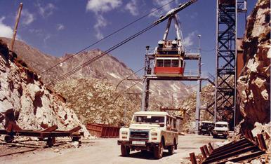 Imatges de la construcció de la central hidroelèctrica reversible d'Estany Gento-Sallente, entre els anys 1983-1985, quan va entrar en servei.