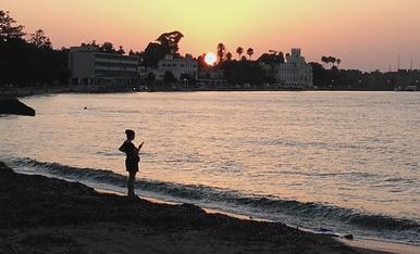 Posta de sol a l'illa grega de Kos