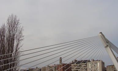 Posta de sol a Lleida...Una imatge artistica