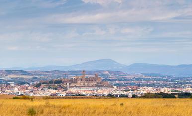 Gran panoràmica del pla de Lleida des de l'aeròdrom d'Alfés