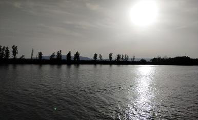 POsta de sol des del Riu Ebre
