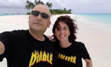 Somriures del grup Recerca a les Maldives