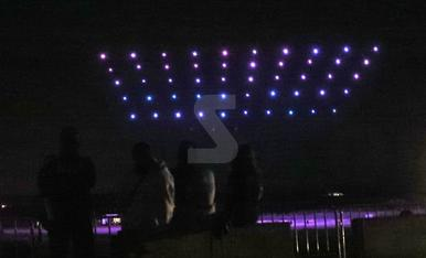 Espectáculo de drones en Alcarràs