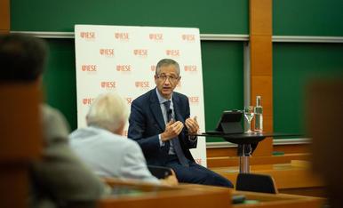 El governador del Banc d'Espanya, Pablo Hernández de Cos, desconfia de la pujada de l'SMI.