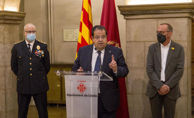 El conseller Elena, després de la Junta Local de Seguretat de Lleida.