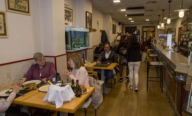 Imatge del restaurant Bellera de Lleida ahir al migdia.