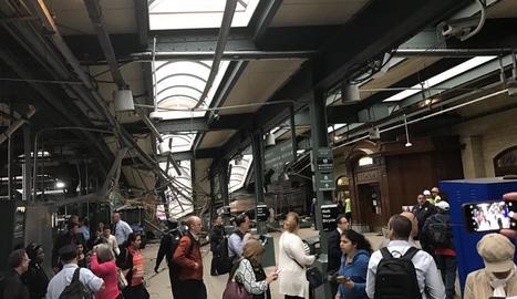 El xoc del tren contra l'estació de Hoboken va provocar greus danys en l'estructura.