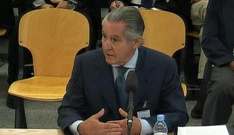 L'expresident de Caja Madrid Miguel Blesa, ahir durant la seua declaració en el judici per les 'black'.