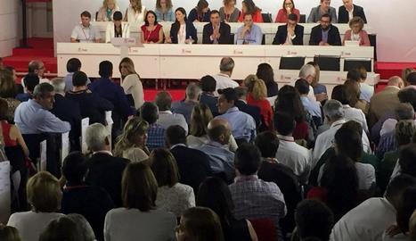 Vista general de la reunió del comitè federal del PSOE.