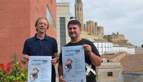 El president del Col·legi d'Arquitectes, Víctor Pérez-Pallarès, i Xavier Cantons, d'Igers Lleida.