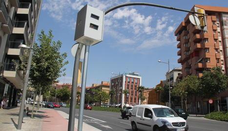 Un dels radars a la ciutat de Lleida.
