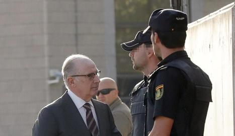 Rodrigo Rato a l'arribar ahir als jutjats.