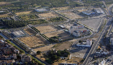 Vista aèria de la major part de la zona d'expansió de Copa d'or.