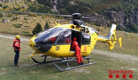 Imatge del rescat d'ahir a la Vall de Boí.