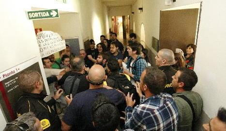 La protesta contra Manso que va derivar en la tancada a la UdL.