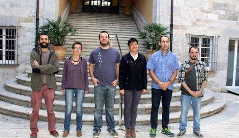 Foto de família d'alguns dels impulsors del projecte.