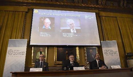 Imatge de l'anunci dels guardonats amb el Nobel.